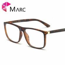 MARC 2019 Men TR90 New Frame Eyewear Fashion Male Resin Clear lens Glasses Plastic Light Trend Square Eyeglass G8017 1