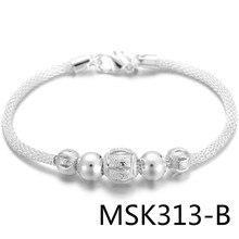 Classic red ahueca hacia fuera transporte perla intervalo luz mano una perla de pelo generación MSK313