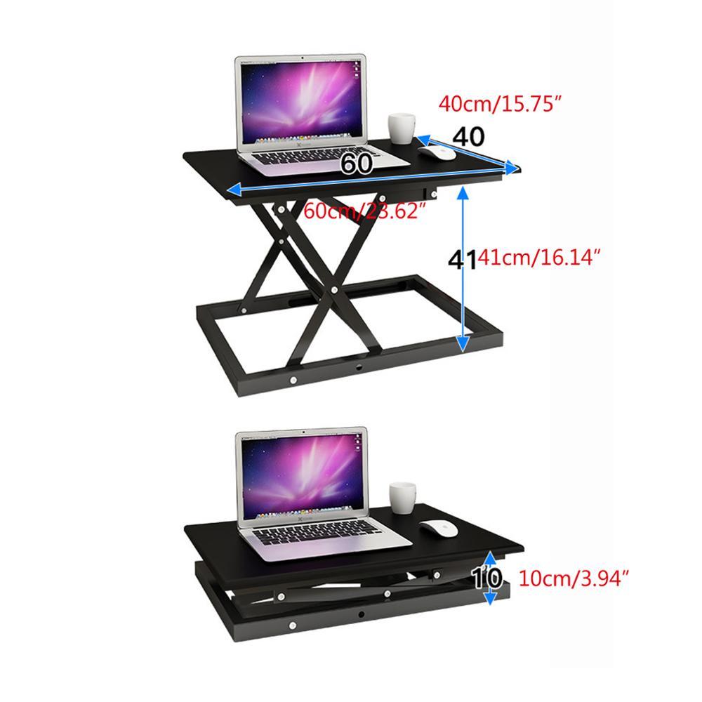 Poste de travail de table réglable en hauteur pour ordinateur portable