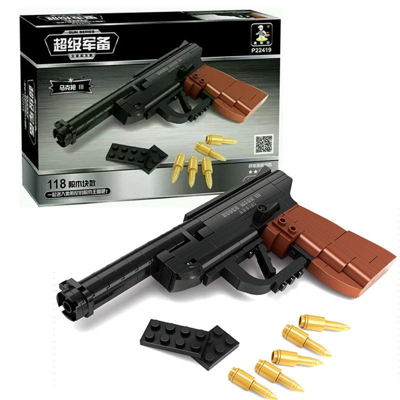 Ausini 118 stk Pedagogisk DIY Assembly Lekepistol Bygningsblokker Gun - Bygg og teknikk leker - Bilde 2