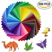 Handicrafts And Art Projects 200 Sheets Origami Paper 2 Sizes 50 Bright Colors Recto For Handicrafts Lot Of 100 Mobile Eyes