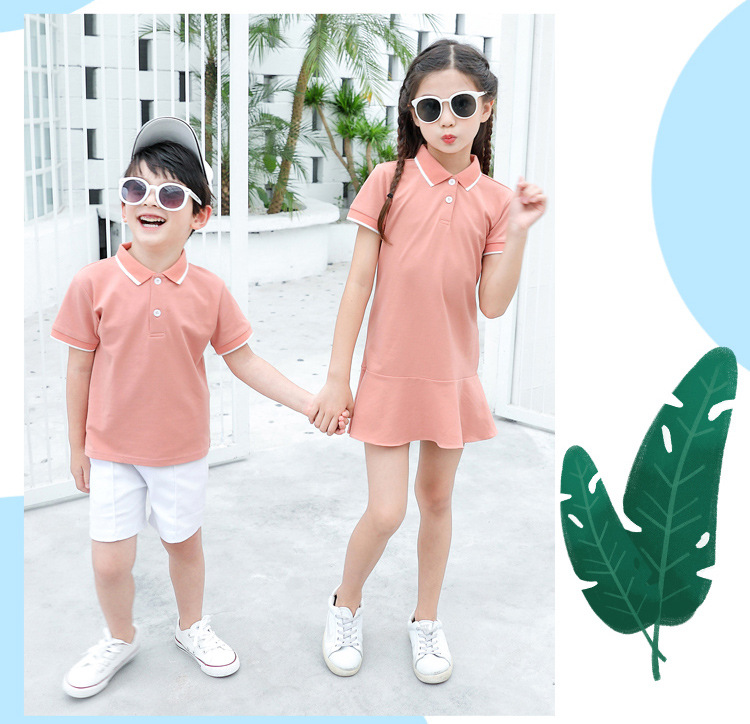 HTB1Z8O5Xxn1gK0jSZKPq6xvUXXap - family matching outfits summer Polo shirt mother daughter matching dresses dad son turn down collar family couple clothes