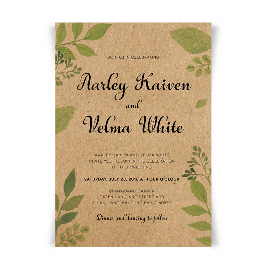 Wedding Invitations With Envelope Vintage Invitations For