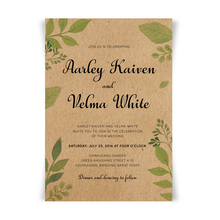 Wedding Invitations with Envelope, Vintage for Save the Date RSVP Cards Custom Wording - Lot of 50