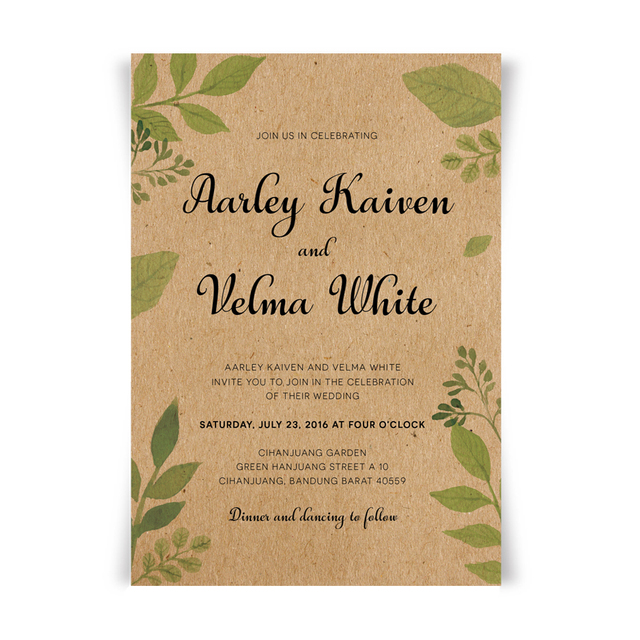 Wedding Invitations with Envelope Vintage Invitations for Wedding