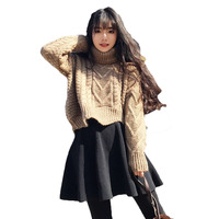 2018 Spring Autumn Winter Women Plus Size Casual Sweater Shorts Suit Korean Two Piece Of Sweater