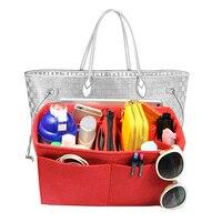 Bag in Bag Customizable Felt Tote Organizer (w/ Milk Water Bottle Holder) Neverfull MM GM PM Speedy 30 25 35 40