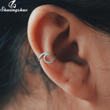 Yiustar Fashion Fake Conch Piercing Ear Climbers Earrings for Women Cute Sea Stud Earing Boho Twisted Ear Cuff Pendientes(China)