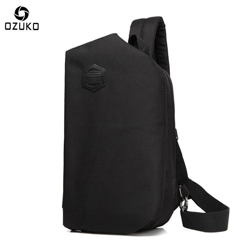 Ozuko sac New Casual Hommes de Poitrine Sac De Mode Creative Multi-fonctionnelle Épaule Messenger Sac Hommes et Femmes Voyage Bandoulière sac à main
