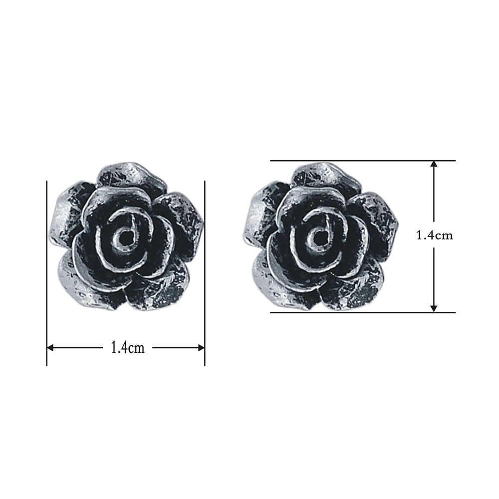 Серьги в упаковке, ювелирные изделия, смешанные партии, полимерные серьги-гвоздики в виде цветка розы, флуоресцентные цвета, серьги с розами для женщин, подарок