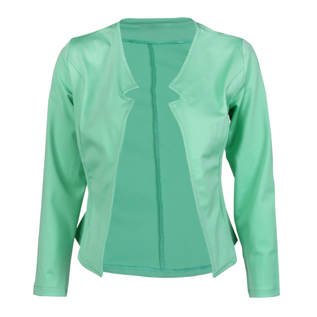 jacket women casual coat autumn winter street jacket solid slim coat cardigan outwear candy color manteau - Manteau Femme Color