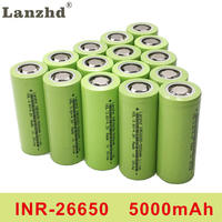 INR26650 lii 50A 26650 battery power lithium battery 3.7V 5000mAh 26650 50A rechargeable battery suitable for flashligh (5 20PCS