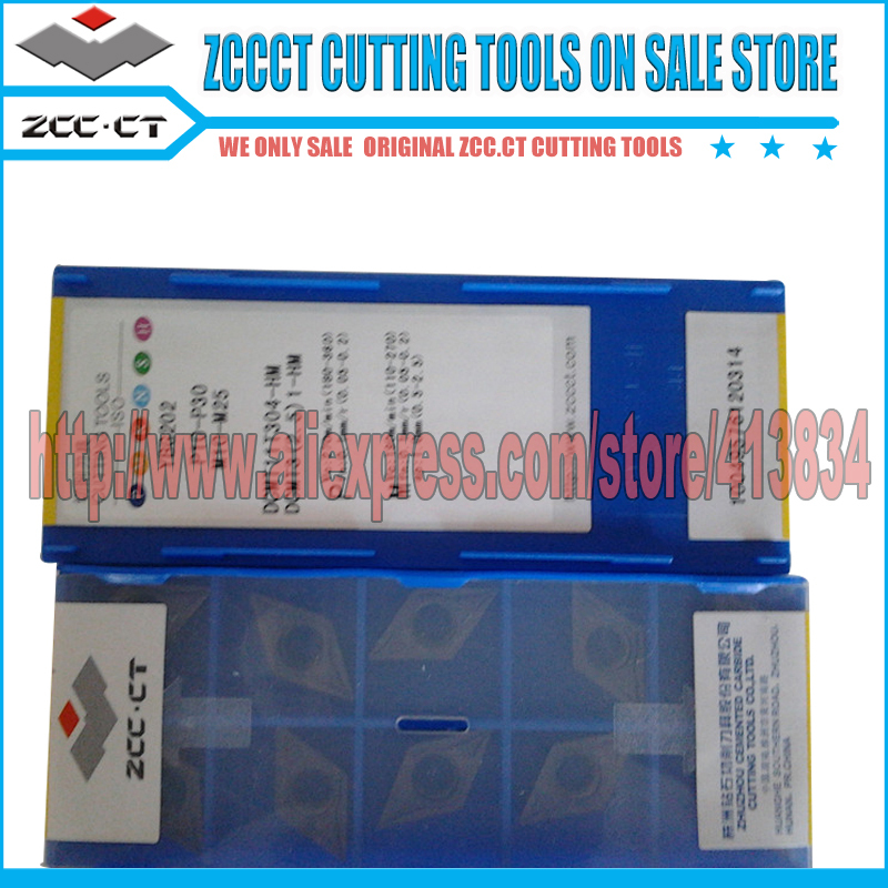 10pcs ZCC CT tools DCMT 11T304 HM YBG202 DCMT11 DCMT11T3 DCMT11T304 tungsten carbide cutter tool for