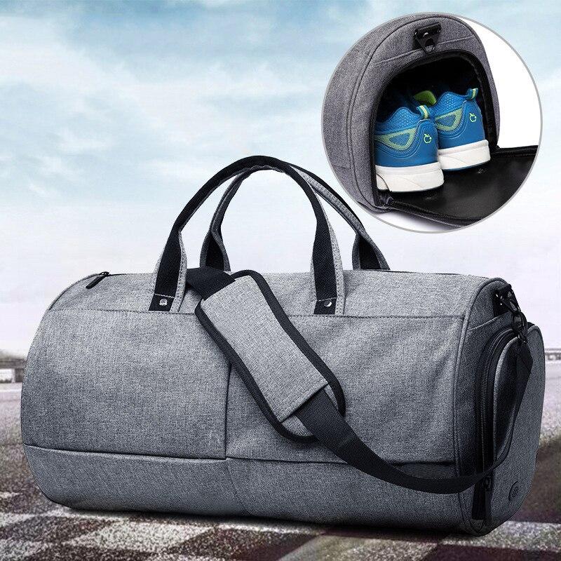 Unisexe toile Sport sac hommes femme formation voyage Fitness Gym sacs Durable multifonction sac à main en plein air Sport fourre-tout pour homme