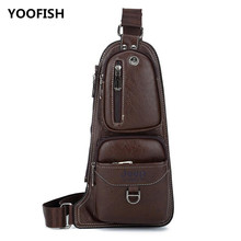 Hot sale Exquisite mens chest bag leisure PU fashion shoulder sports crossbody Free shipping XZ-104.