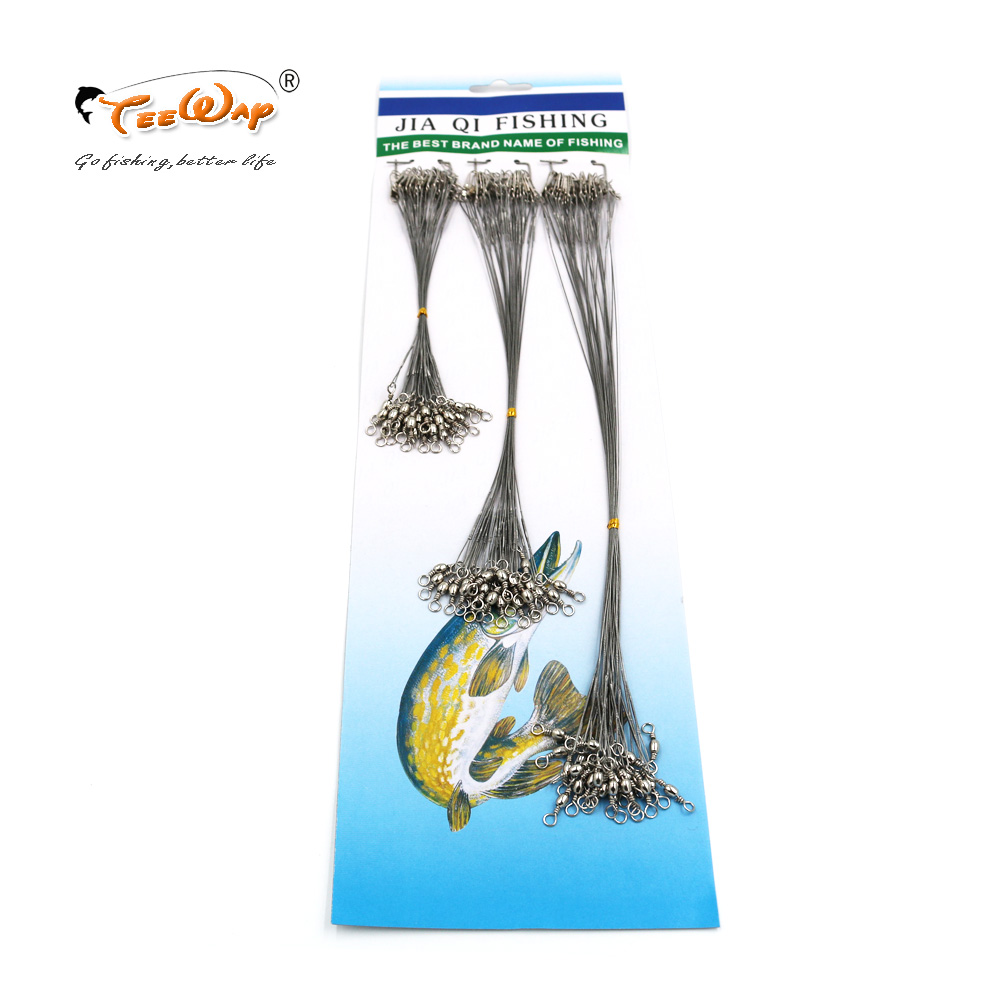 72 PcsPack Fishing Tackle Lure Trace Wire 15cm 23cm 30cm Length High Carbon Stainless Steel Anti-bite Sub Fishing Line
