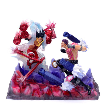 Anime One Piece Gear Fourth Luffy VS Charlotte Katakuri GK PVC Action Figure Statue Collection Model Toys Doll Gift 26cm