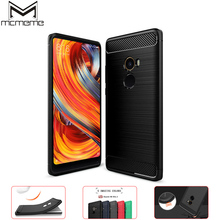 цена на MCMEME For Xiaomi Mi Mix 2 Case Silm Silicone Soft TPU Brushed Carbon Fiber Texture For Xiaomi Mi Mix 2 Mix 2 Back Cover Shell