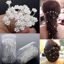 Wedding Hair Pins Simulated Pearl Flower Bridal Hairpins Bridesmaid Hair Clips Women Hair Jewelry Accessories 40 PCS