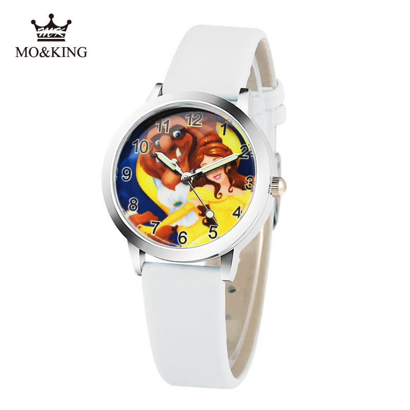 2019 Cartoon New Fashion Beauty And The Beast Watches Children Kids Boys Gift Watch Casual Quartz Wristwatch Child's Gift