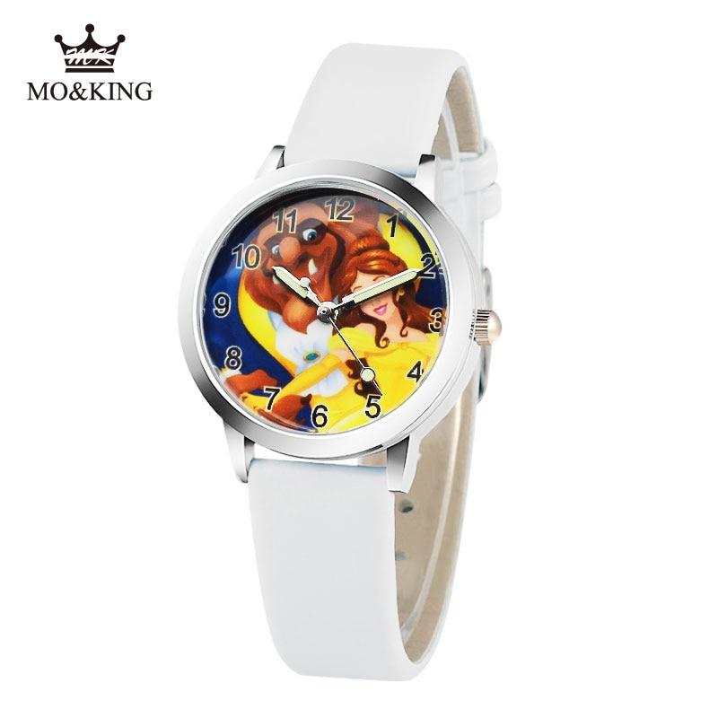 2019 Cartoon New Fashion Beauty And The Beast Watches Children Kids Boys Gift Watch Casual Quartz Wristwatch Child's Gift