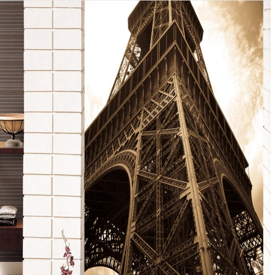 Custom Environmental 3D stereoscopic large mural wallpaper photo wall paper living room sofa TV backdrop of the Eiffel Tower brooklyn black and white wallpaper mural photo wallpaper 3d mural large wall painting mural backdrop stereoscopic wallpaper