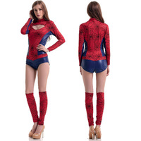Spider Man Cosplay Women Costumer Dress Sexy Warrior Outfit New Pattern