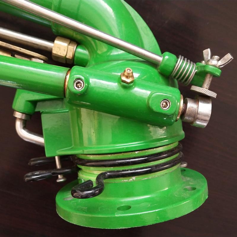 S052 Turbine worm spuitpistool, 360 graden verstelbare rotatie, afstoffen spuitpistool, gear drive rotatie, spray straal meer dan 50M - 4