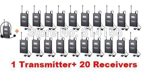 Takstar Wtg-500/wtg 500 Uhf Wireless Besucherführungssystem 6 Wählbare Kanäle 100 Mt Betriebsbereich 1 Sender Mikrofone Live-geräte 20 Empfänger