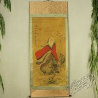 Exquisite Chinese Antique collection Imitation ancient Lao tzu Picture