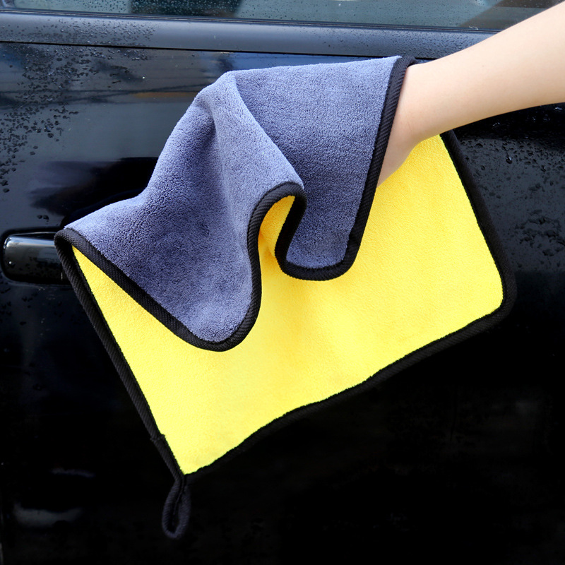 Cheap Sale 1pcs Microfiber Car Care Polishing Wash Towels Plush Washing Drying Towel Strong Thick Plush Polyester Fiber Car Cleaning Cloth Clients First Interior Accessories