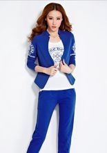 2016 New Fashion Spring TrackSuit & Design Jacket  Vest Pants &3 Piece Set Women Casual Clothing set Plus Size Print Clothes