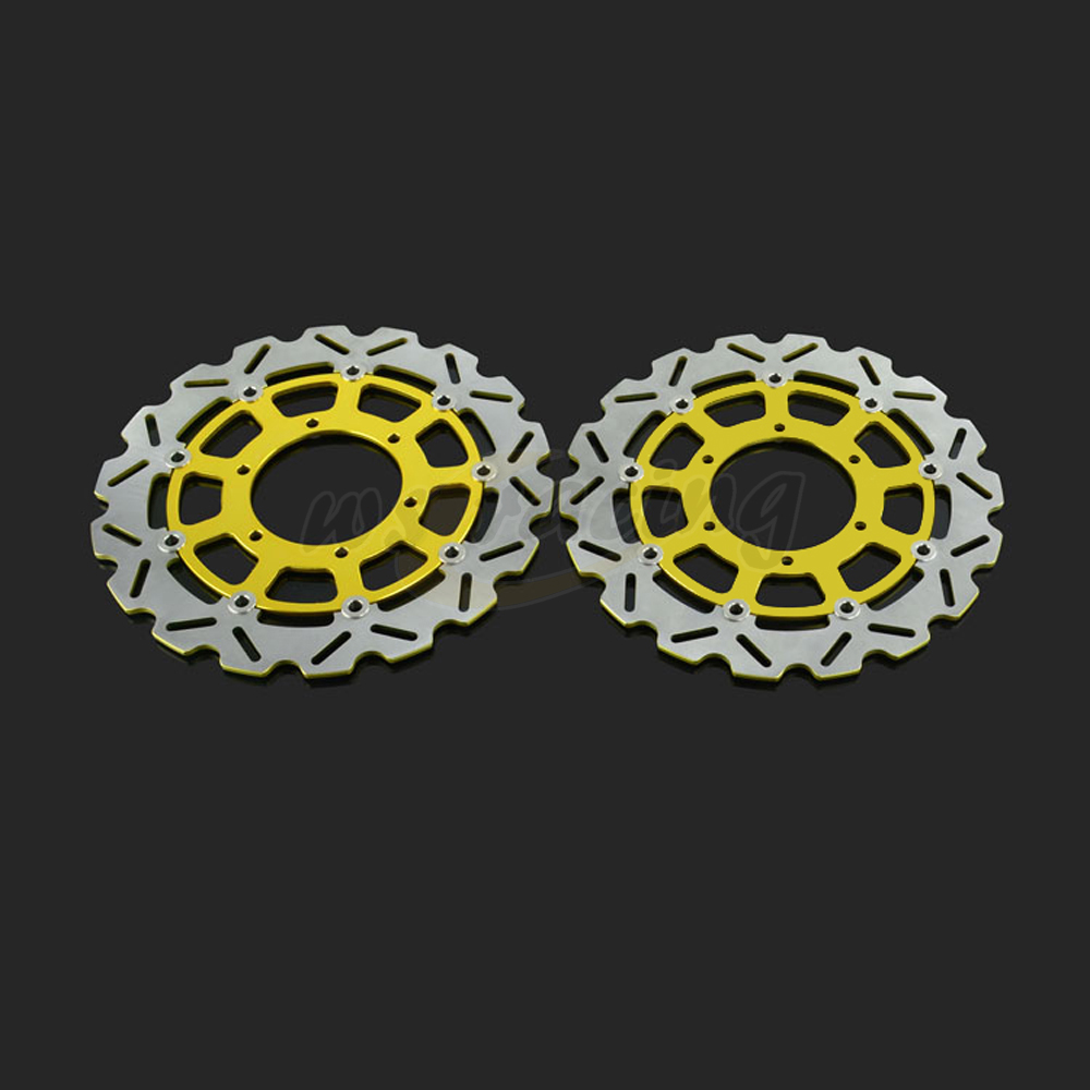 310MM Motorcycle Front Wavy Floating Brake Disc Rotor For SUZUKI GSX600R GSX750R 2008-2014 GSX1000R 2009-2014 09 10 11 12 13 14 front brake disc rotor for suzuki gsxr1000 abs 2015 up gsx r1000 non abs 2009 up gsxr600 gsxr750 2008 up gsx r600 gsx r750
