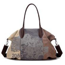 Women's Handbag Vintage Shoulder Bag Canvas Retro Shoulder B
