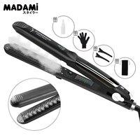 Madami Steam Hair Straightener Iron Argan Oil Treatment 450F Professional Steam Pod Tourmaline Ceramic Hair Care Styling Tool