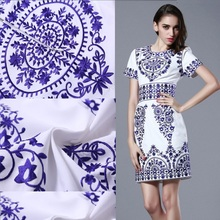 Embroidery dresses Hotsale 2016 Women Summer Dresses Brand Lady Embroidery Dress Elegant Blue And White Porcelain Fashion Dress