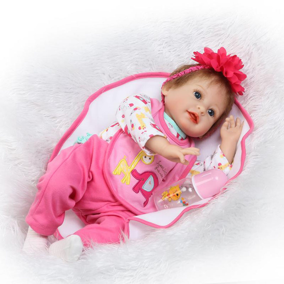 NPK Fashion 22'' Soft Silicone Touch Real Reborn Baby Doll So Truly Baby Alive Doll Lifelike Girl Toy Educational Kids Playmates fashion touch fashion touch soft touch для apple iphone 6 6s