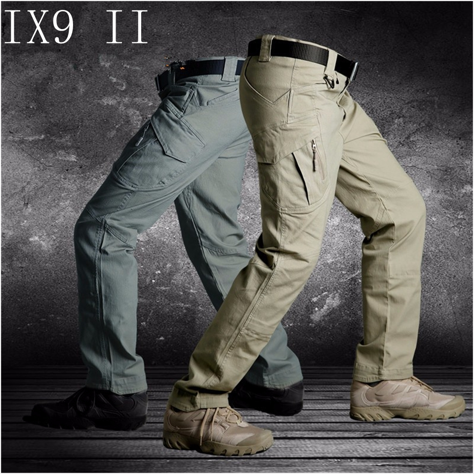 Men Militar Tactical Cargo Outdoor Pants Combat Swat Army Training Military Pants Sport Trousers for Hiking Hunting купить