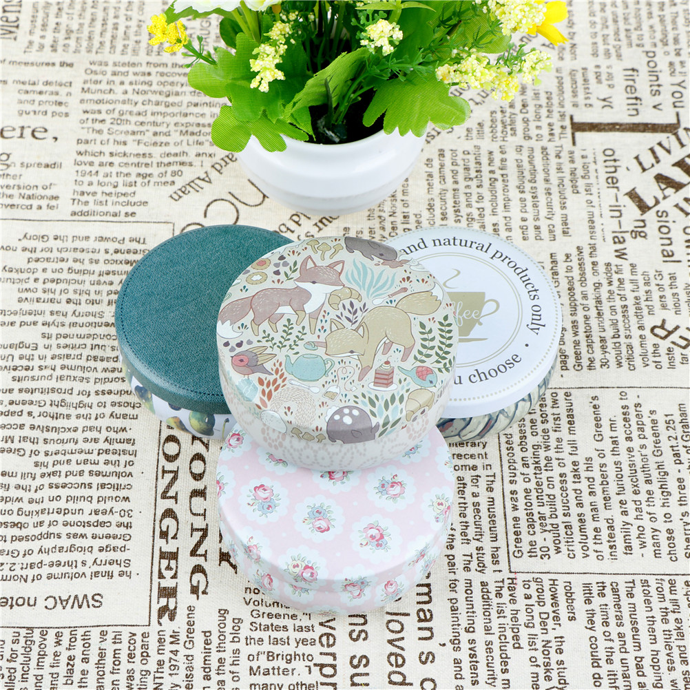 Us 0 74 57 Off Candy Jewelery Storage Container Sundries Organizer Decorative Gift Packing Iron Box Tea Tins Round Tin Box With Lids In Storage