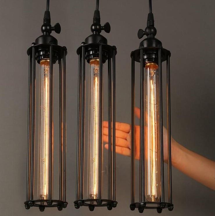 t30 edison bulb vintage iron pendant lights loft punk fashion metal shanging lamp lustres home fixture
