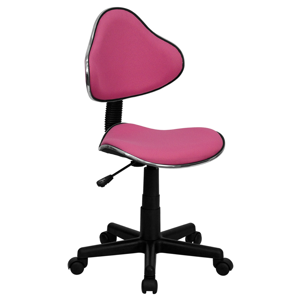 Flash Furniture Pink Fabric Ergonomic Task Chair [863-BT-699-PINK-GG]