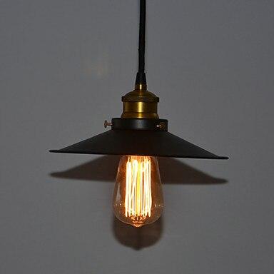 60 W Edison Unique Rétro Loft Style Lampe Vintage Lampe Industrielle Pendentif Éclairage Hanglamp Noir Fer Peinture