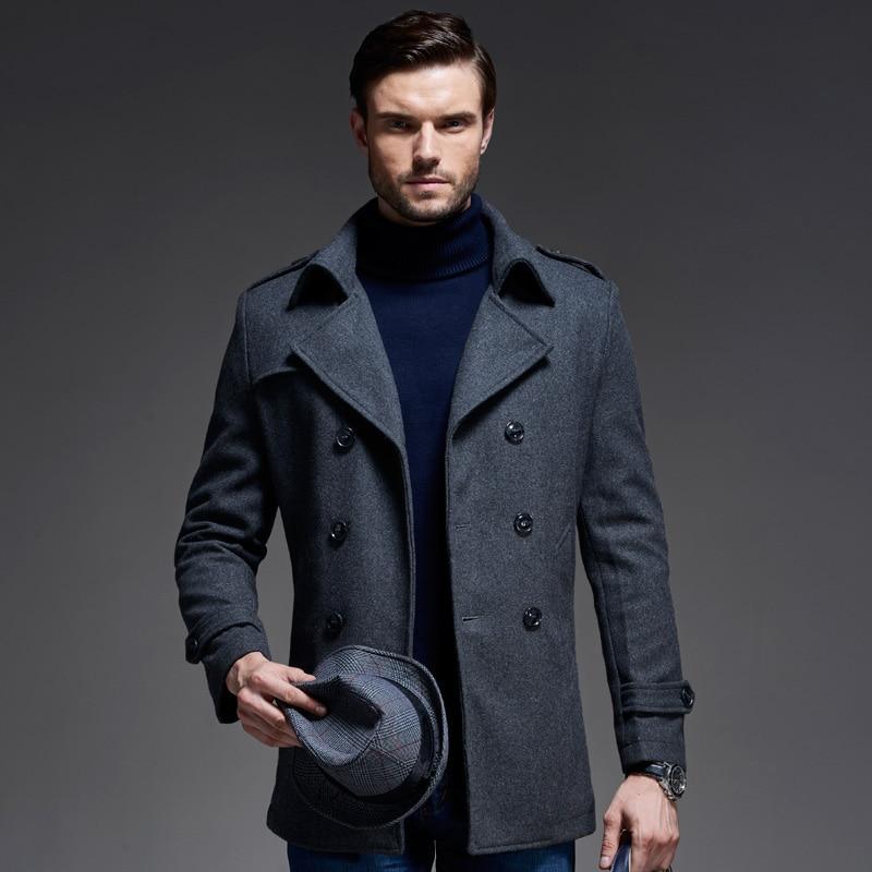 Aliexpress.com : Buy New Winter Fashion Wool Blend Mens Pea Coat