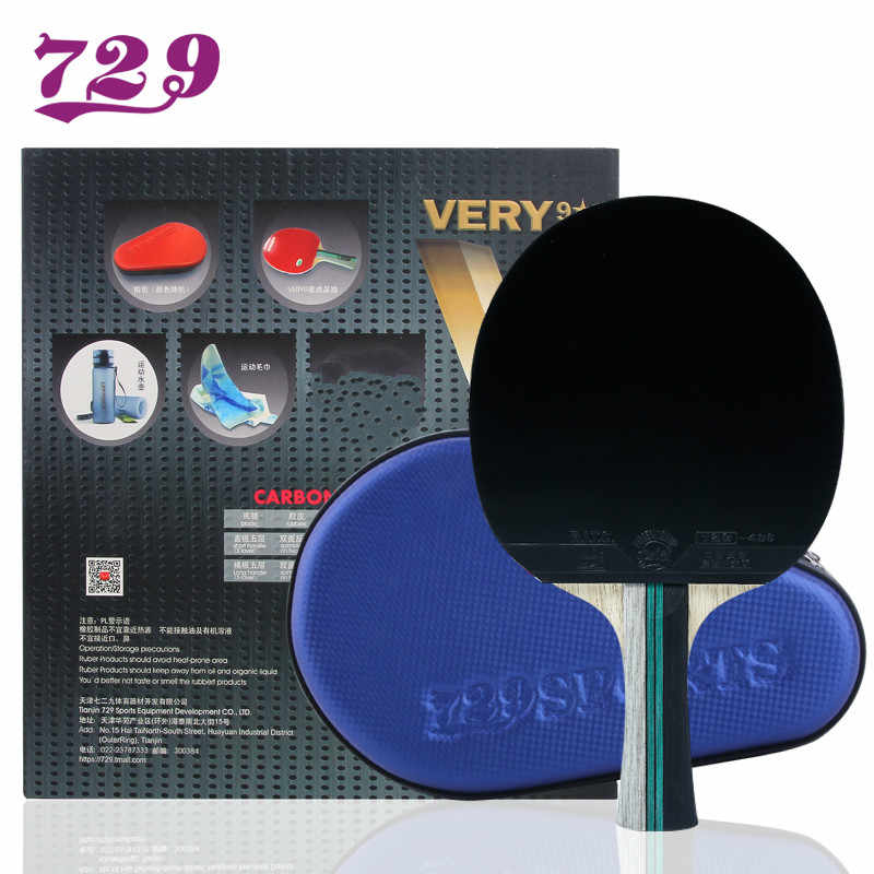 Friendship 729 Very 9 Star Table Tennis Racket Blade ping pong bat finished rackets racquet With Gift (bagl+bottle+towel)