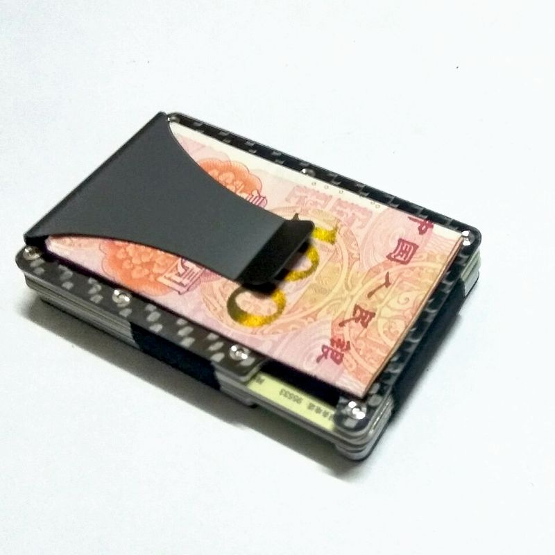 2019 Heißer Verkauf Dünne Kohlenstoff Faser Mini Metall Rifd Brieftasche Business Id Karte Halter Anti-dieb Karte Geldbörsen Porte Carter Bestellungen Sind Willkommen.