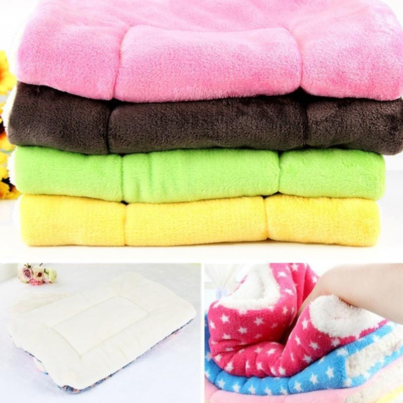 Cute Warm Cotton Dog Kennel Mat Thick Cashmere Blanket Cushions House Pet Supplies