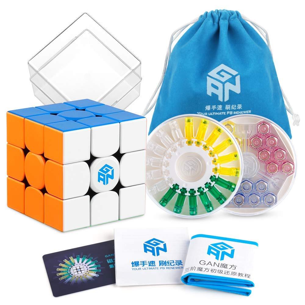 GAN 356 X Speed Cube 3x3 sans autocollant Gans 356X Cube de Puzzle magnétique Gan356 X 3x3x3 M (Version IPG V5)