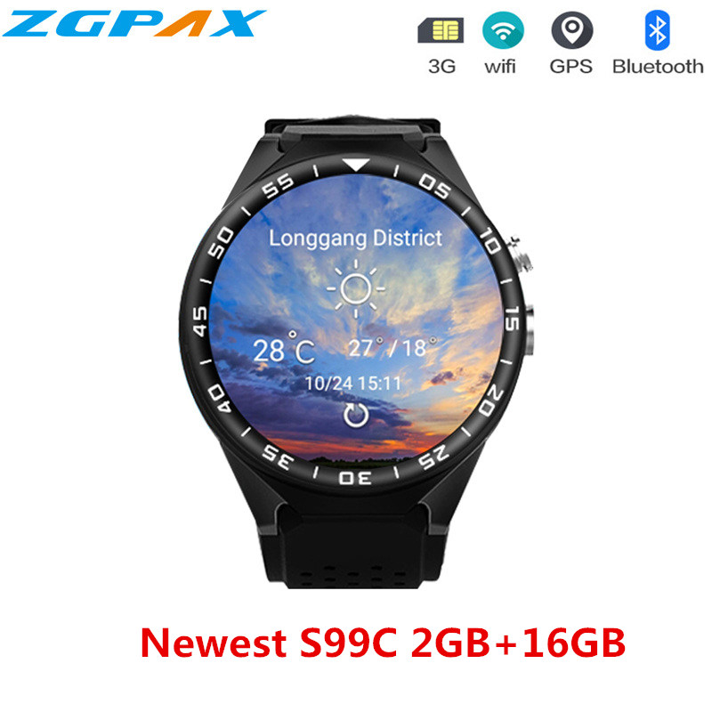 S99C Android 5 1 OS Smart Watch 1 3 inch Heart Rate Camera Video Health Monitoring