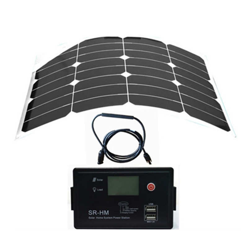 Wholesale sunpower flexible solar panel 30W +12V&24V Aoto USB solar charge controller, for 12V battery solar system.