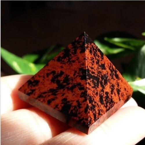 (20-30g) curación de la pirámide de cristal de cuarzo obsidiana NATURAL 100%